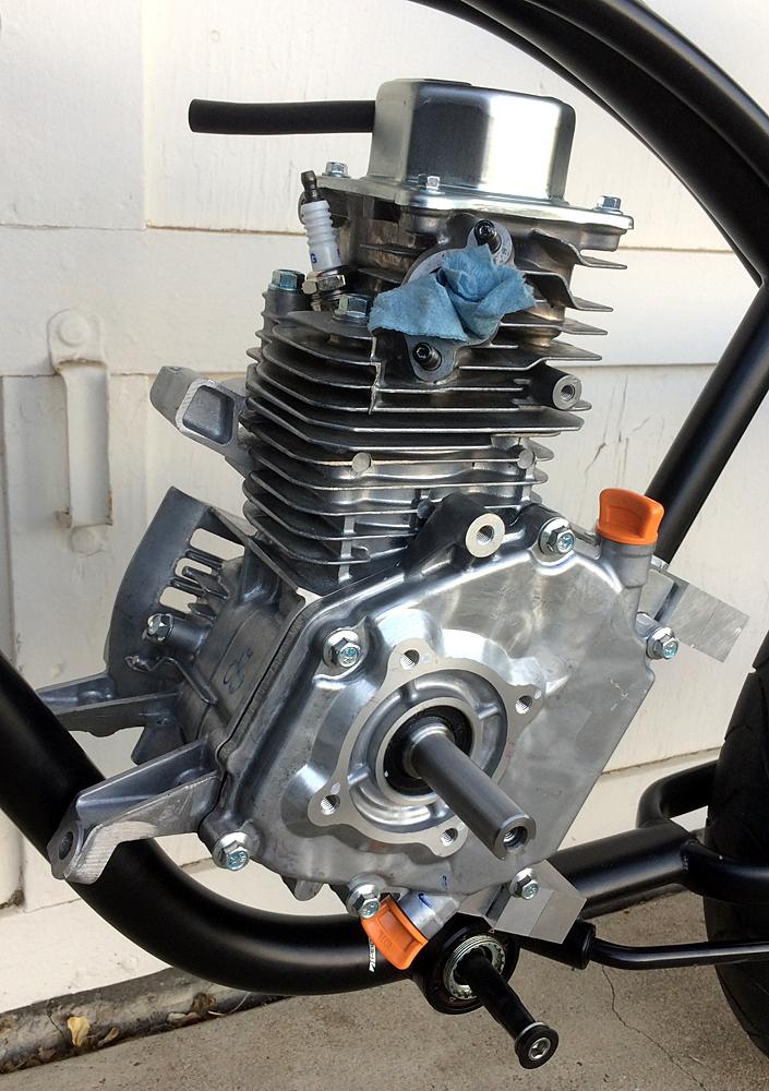 212cc Harbor Freight Predator engine in Felt Bixby cruiser frame